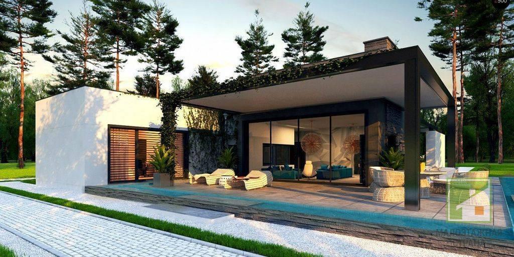 Дом с плоской крышей – варианты исполнения, особенности, красивые проекты (фото)