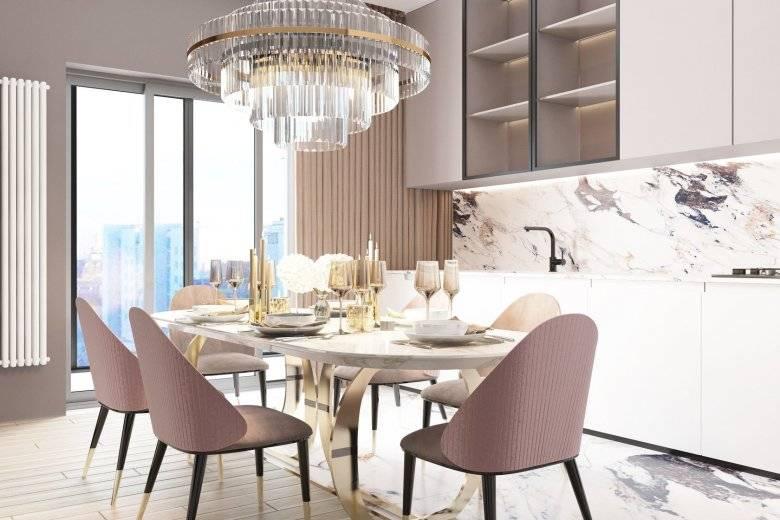 Дизайн кухни-гостиной 20 кв. м. – фото в интерьере, примеры зонирования