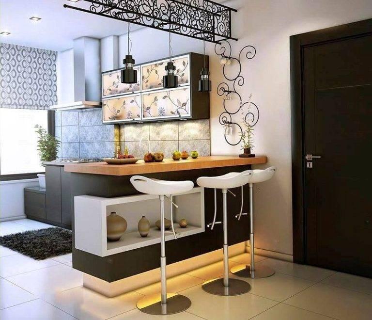 Угловая кухня с барной стойкой [50 фото] - идеи дизайна и расположение