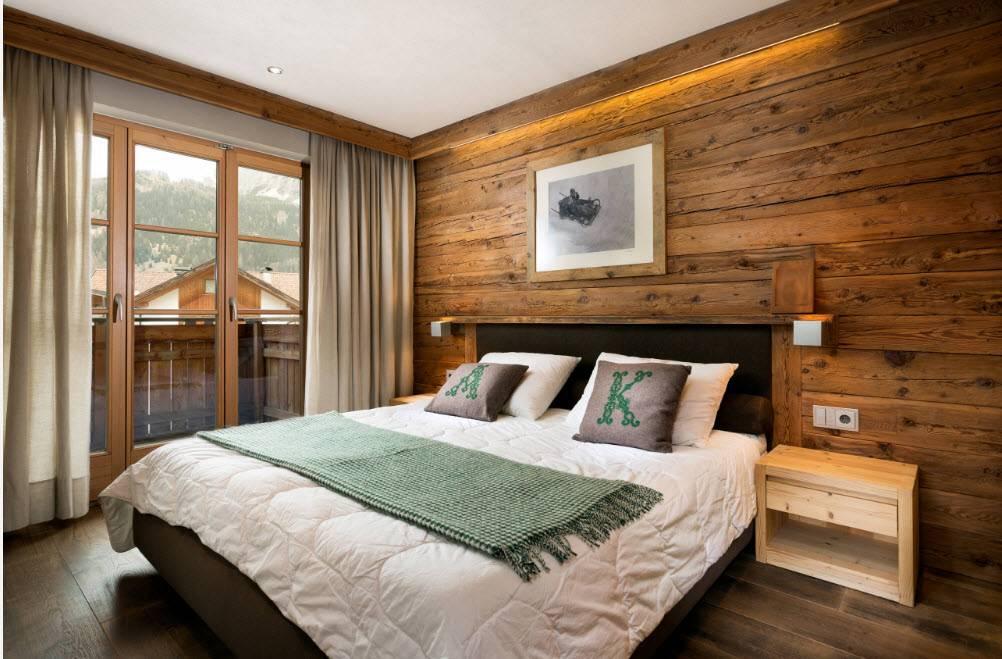 Дизайн спальни в деревянном доме - решения на 25 фото