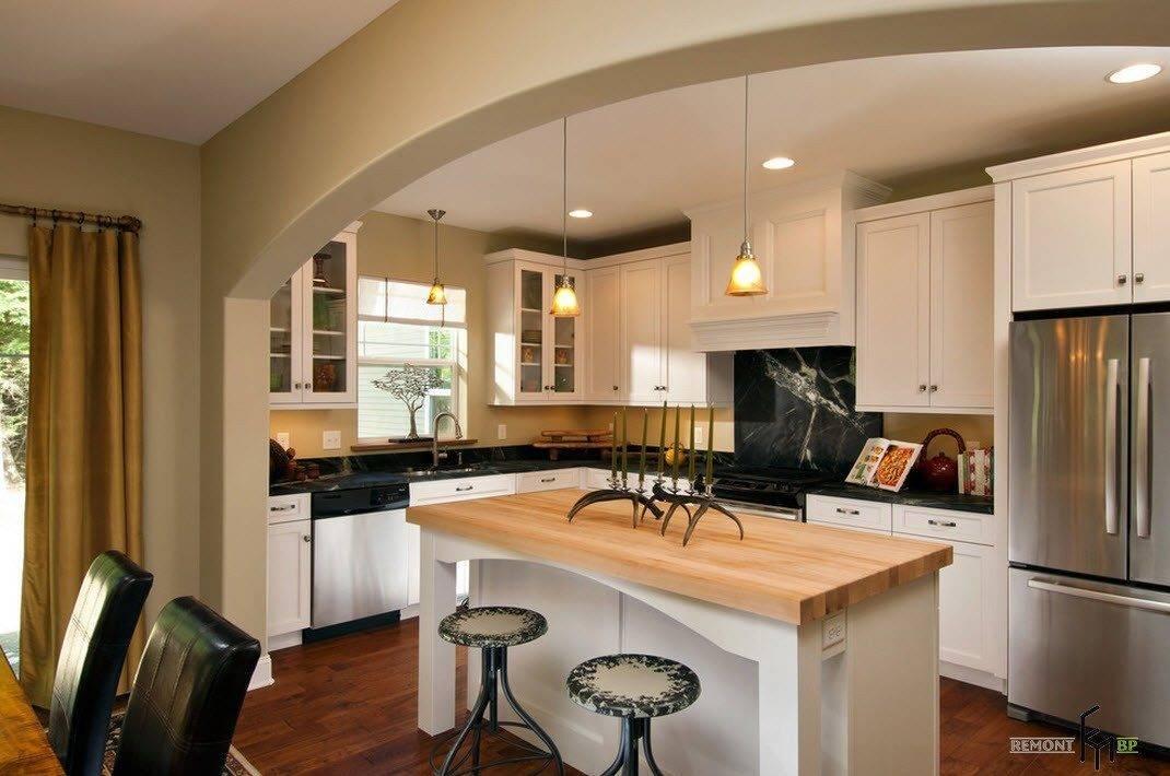 Красивые арки в. дизайн арки между кухней и гостиной фото