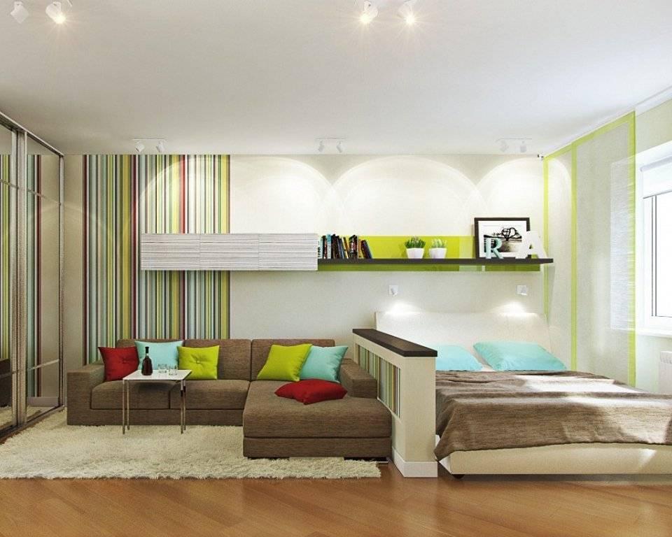 Зонирование комнаты на спальню и гостиную (102 фото): дизайн спальни с перегородкой, как совместить спальню и гостиную
