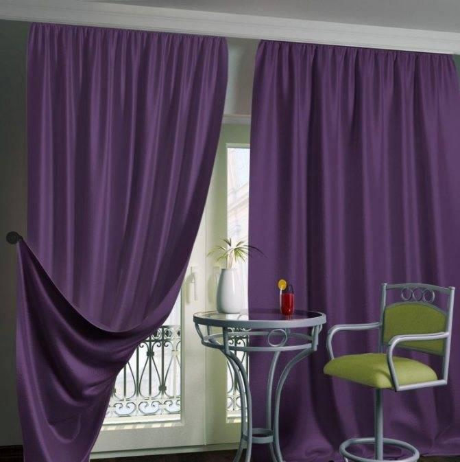 Сиреневые шторы в интерьере гостиной (54 фото): выбираем гардины и тюль фиолетового цвета в зал