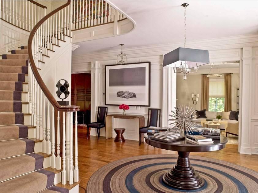 Особенности оформления лестницы в интерьере гостиных комнат