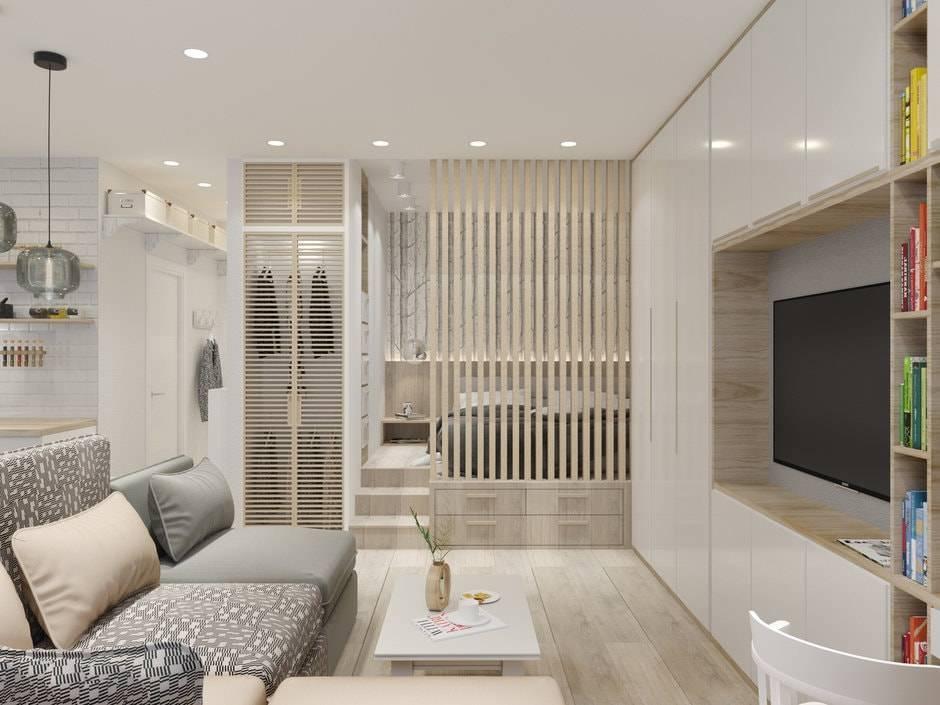 Дизайн однокомнатной квартиры 38 кв.м: продуманные и стильные идеи