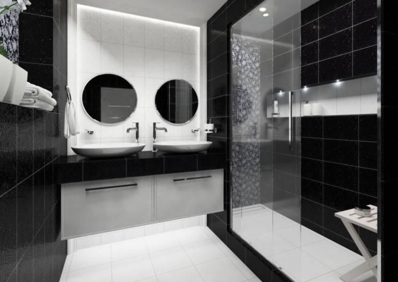 Дизайн белой ванной комнаты — магия света и чистоты