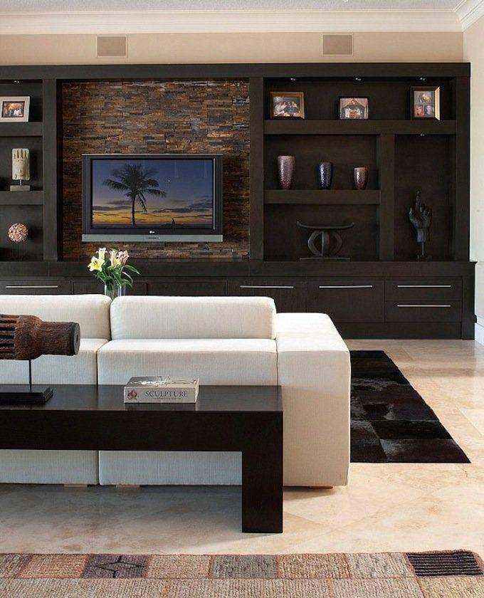 Вариации стенок-горок в дизайне гостиной комнаты