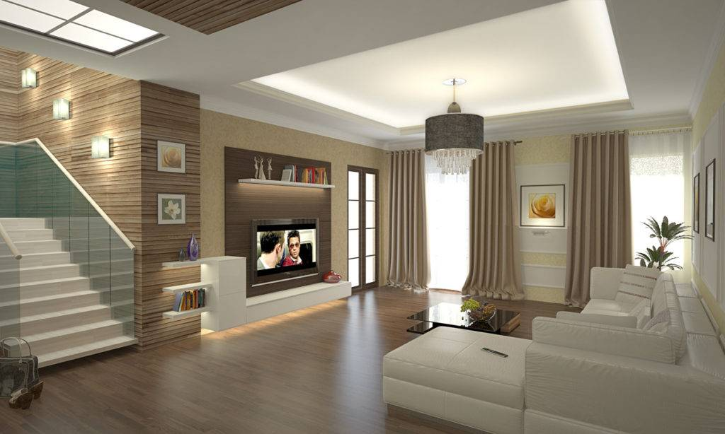 Интерьер гостиной вчастном доме: свежие идеи и35 фото