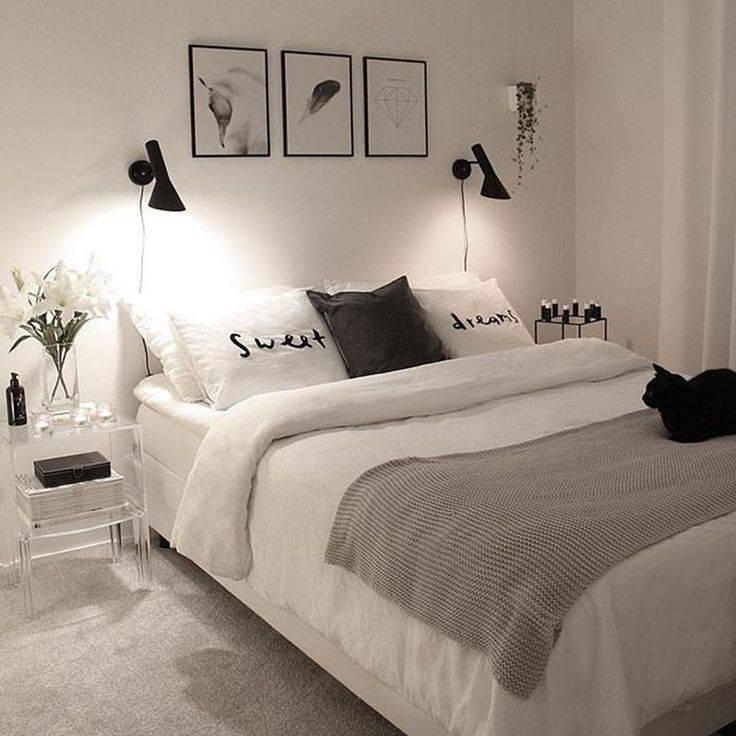 Оформление спальни в черно-белых тонах