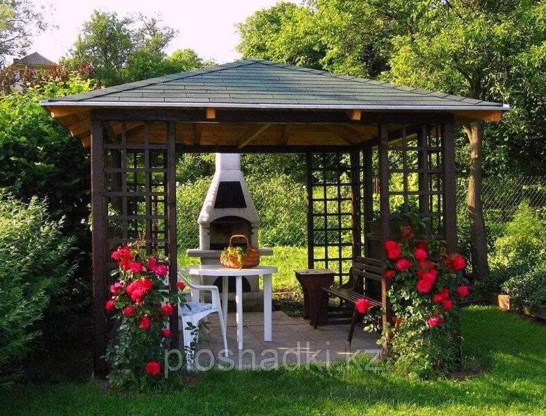 Закрытые садовые беседки: интересные идеи