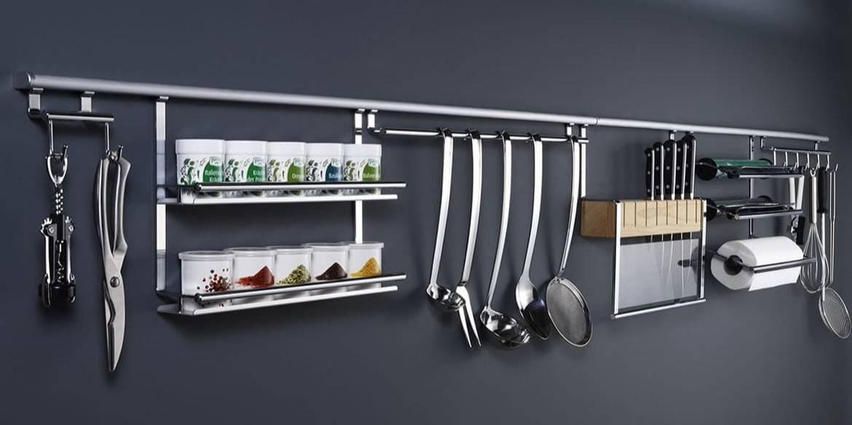 Рейлинговые системы для кухни: виды и инструкции по установке