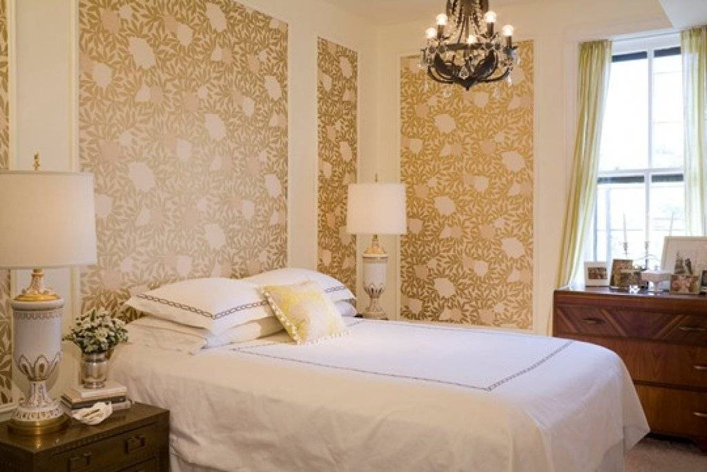 Обои-компаньоны: примеры для спальни (46 фото): размещение в интерьере, как поклеить обои-партнеры