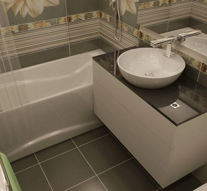 Дизайн ванной комнаты площадью 5 кв. м
