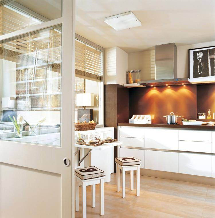 Дизайн интерьера современной маленькой кухни