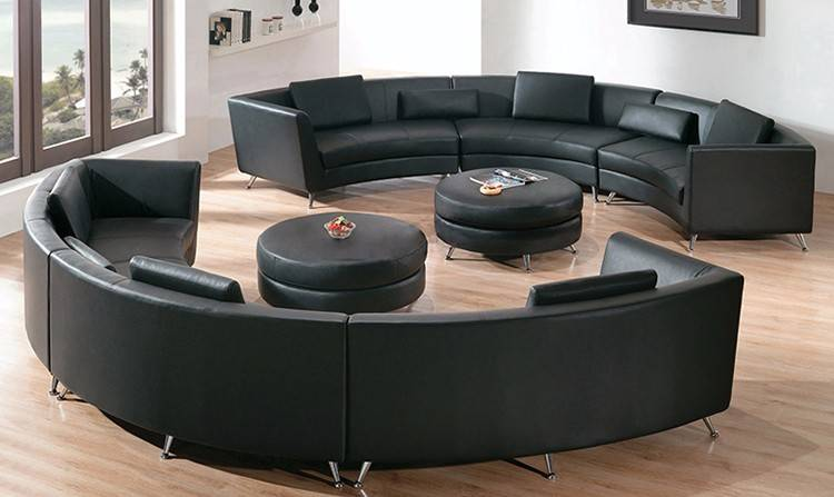 Угловые диваны в гостиную — современные идеи + 75 фото