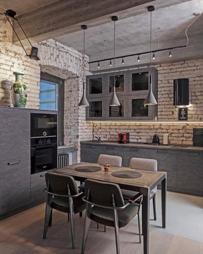 75 примеров интерьера кухни в стиле лофт