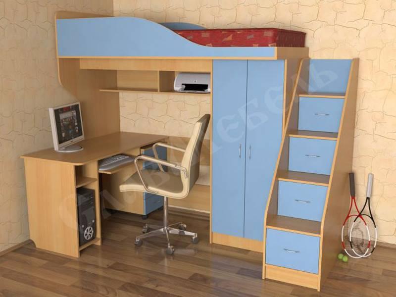 Кровать-чердак: фото, виды, цвета, дизайн, стили, материалы, примеры с лестницей,