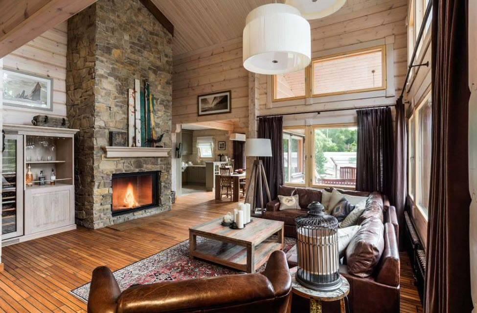 Интерьер гостиной в частном доме: красивые варианты оформления