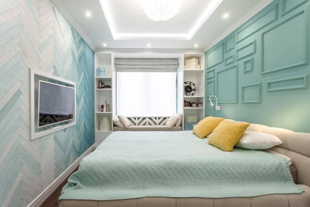Дизайн интерьера маленькой спальни 9 кв м – реальные фото