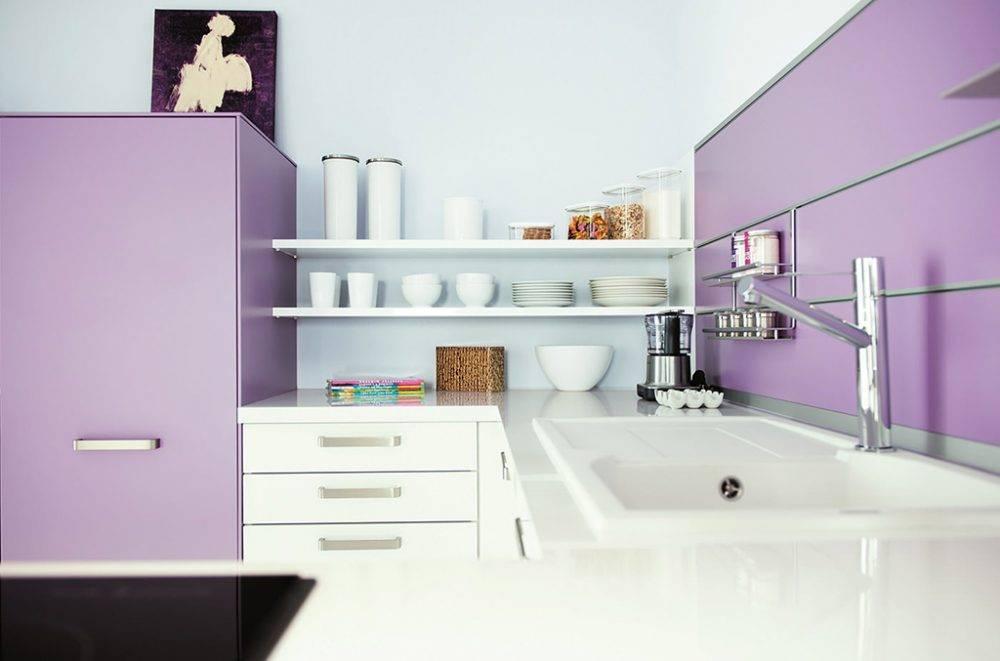 Кухни фиолетового цвета: 50 ярких идей оформления интерьера
