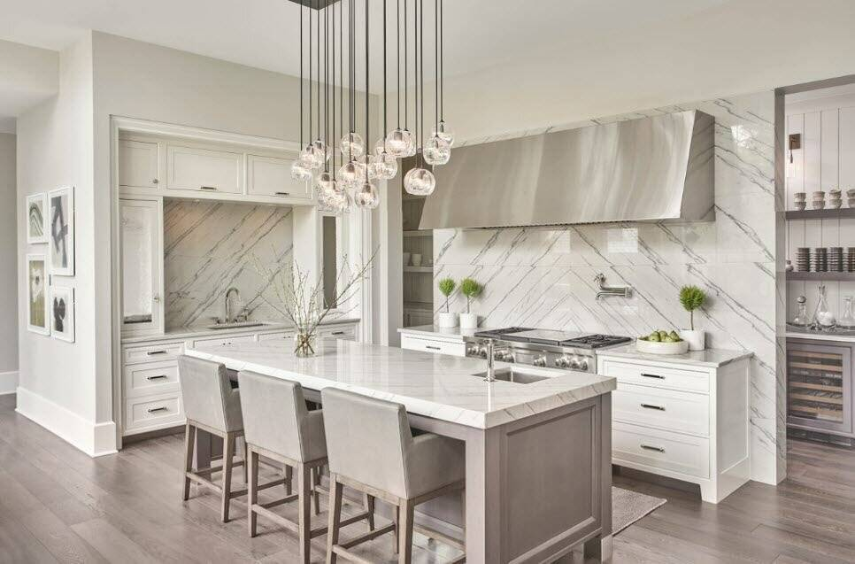Белая кухня: дизайн, стили, 90+ фото