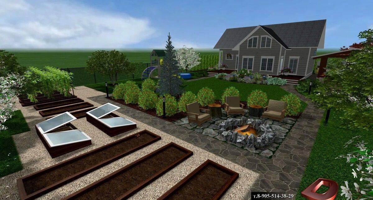 Дизайн дачного участка площадью 10 соток своими руками (61 фото): ландшафтный дизайн, схема ландшафта садового участка