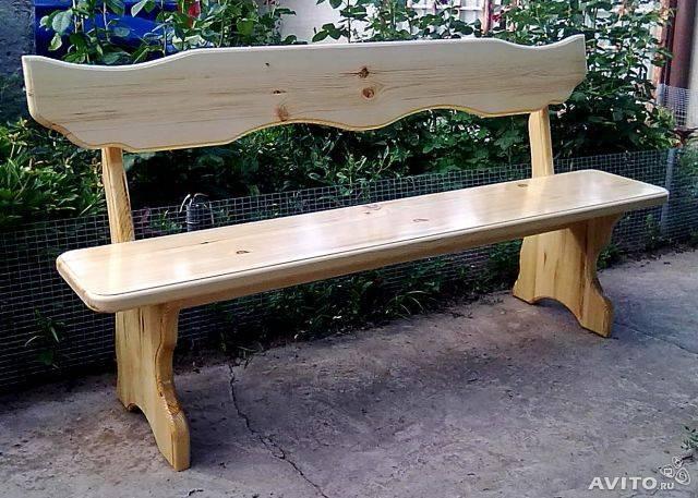 Скамейка со спинкой своими руками. как сделать скамейку из дерева.