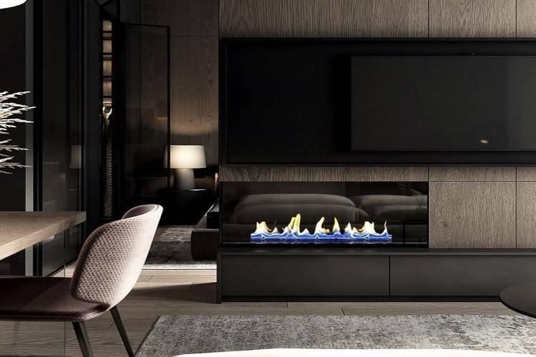 Гостиная с камином (95 фото): современный дизайн интерьера зала в маленькой квартире, комната в английском стиле