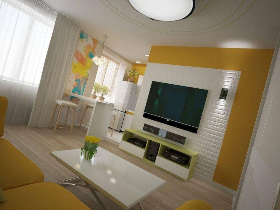 Ремонт в 2-комнатной «хрущевке» без перепланировки: дизайн интерьера двухкомнатной квартиры с проходными или смежными комнатами