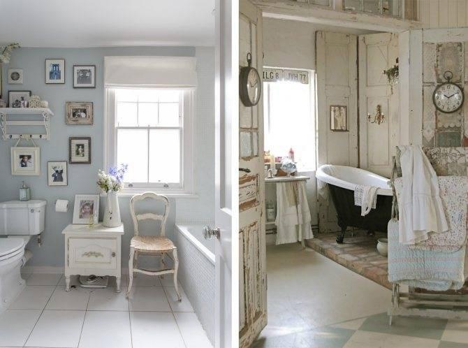 Плитка шебби шик в интерьере ванной: фото-примеры