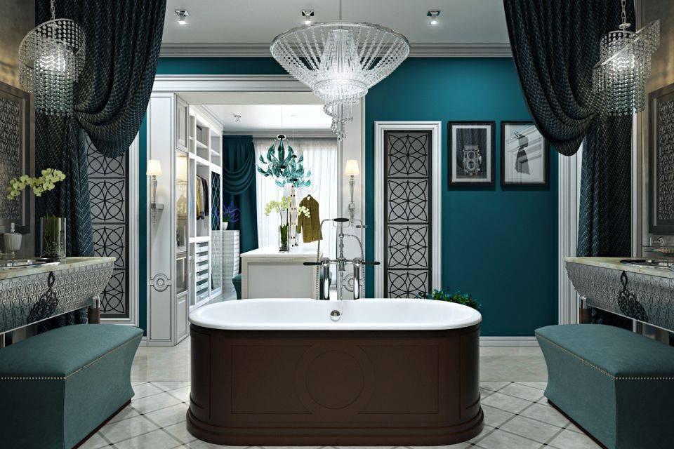 Дизайн ванной комнаты в бирюзовом цвете. бирюзовая ванная комната: 100 фото-идей
