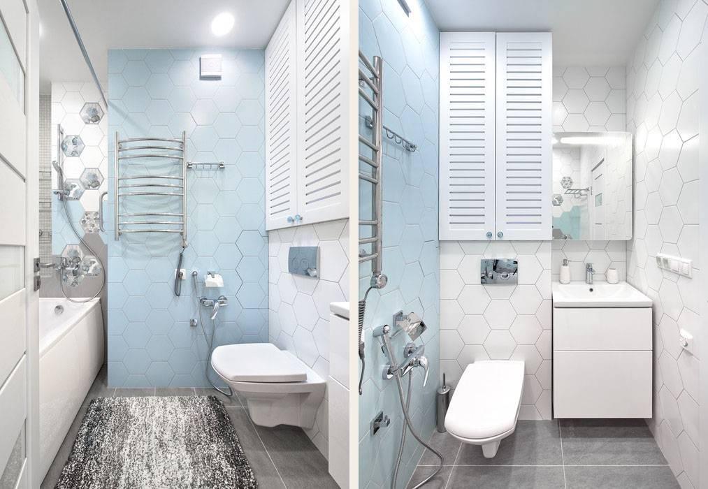 Дизайн интерьера маленькой ванной комнаты, совмещенной с туалетом