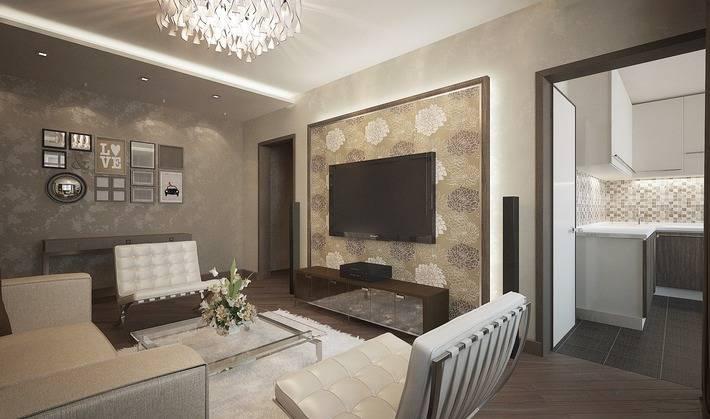 Дизайн трехкомнатной квартиры п-44т на фото