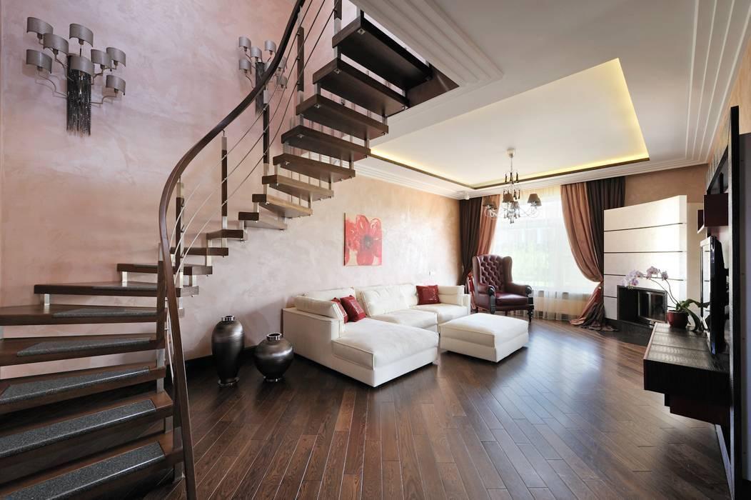 Лестницы в гостиной: их виды и советы по расположению