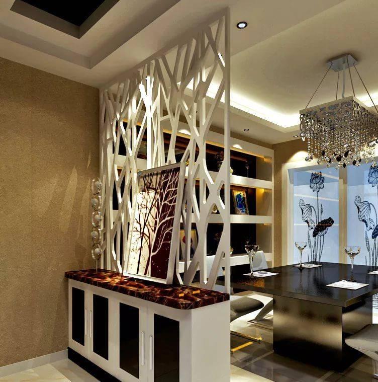 Декоративные перегородки для зонирования пространства в комнате