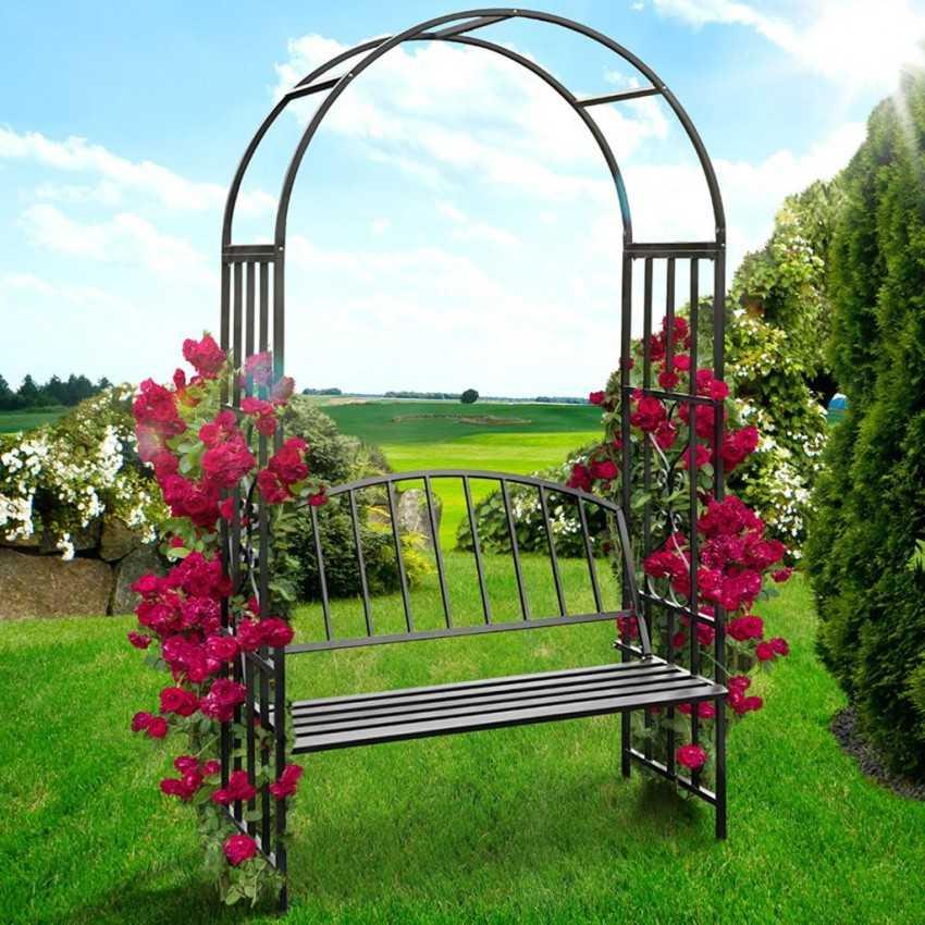 Садовая арка своими руками - лучшие проекты благоустройства и варианты озеленения вьющимися растениями (105 фото)