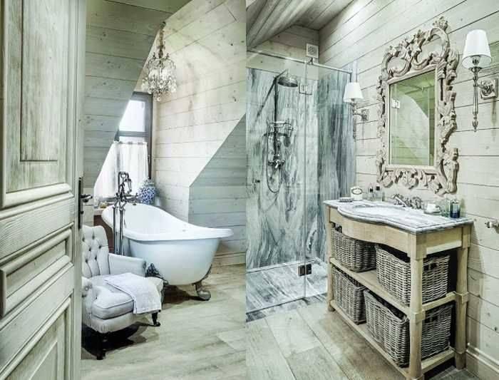 Интерьер в стиле шебби-шик: спальня vs ванная – вдохновение
