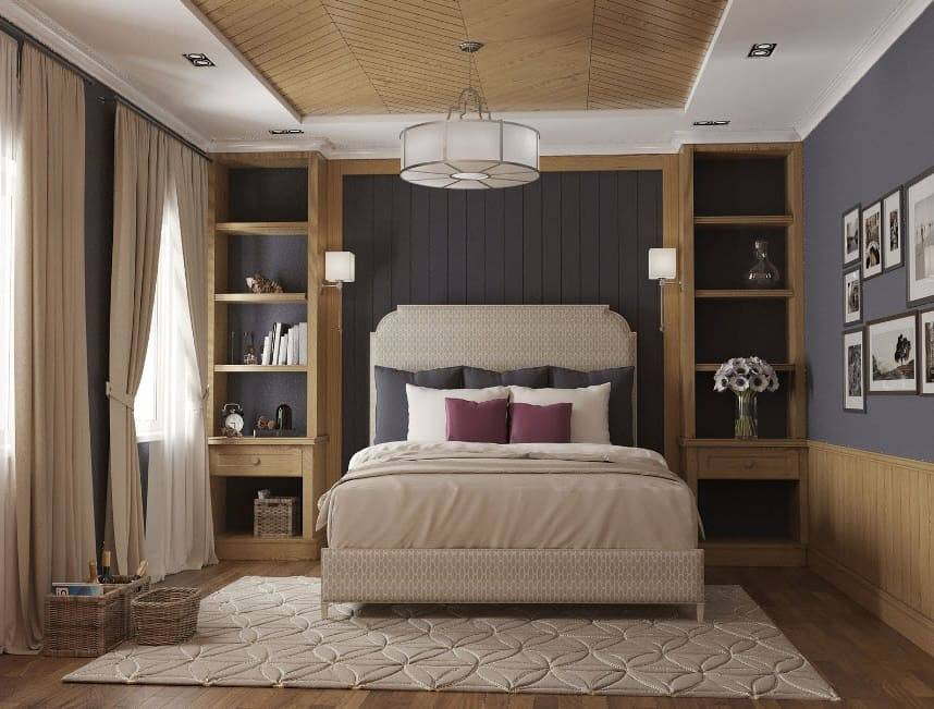 Современный дизайн маленькой спальни 9 кв м, фото идей