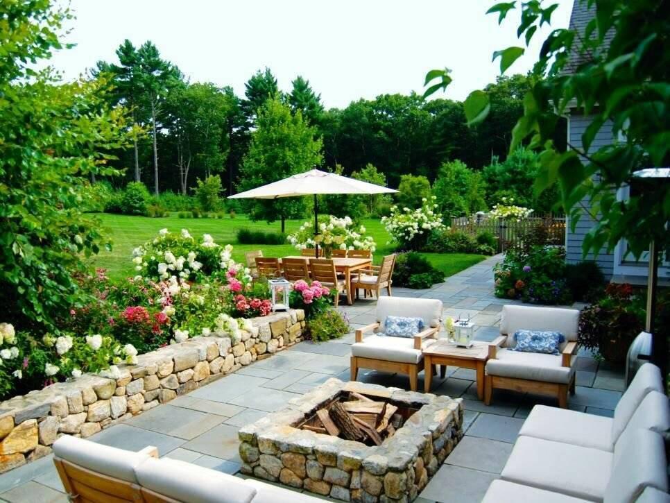 Дизайн двора частного дома— 40 фото современных дворов