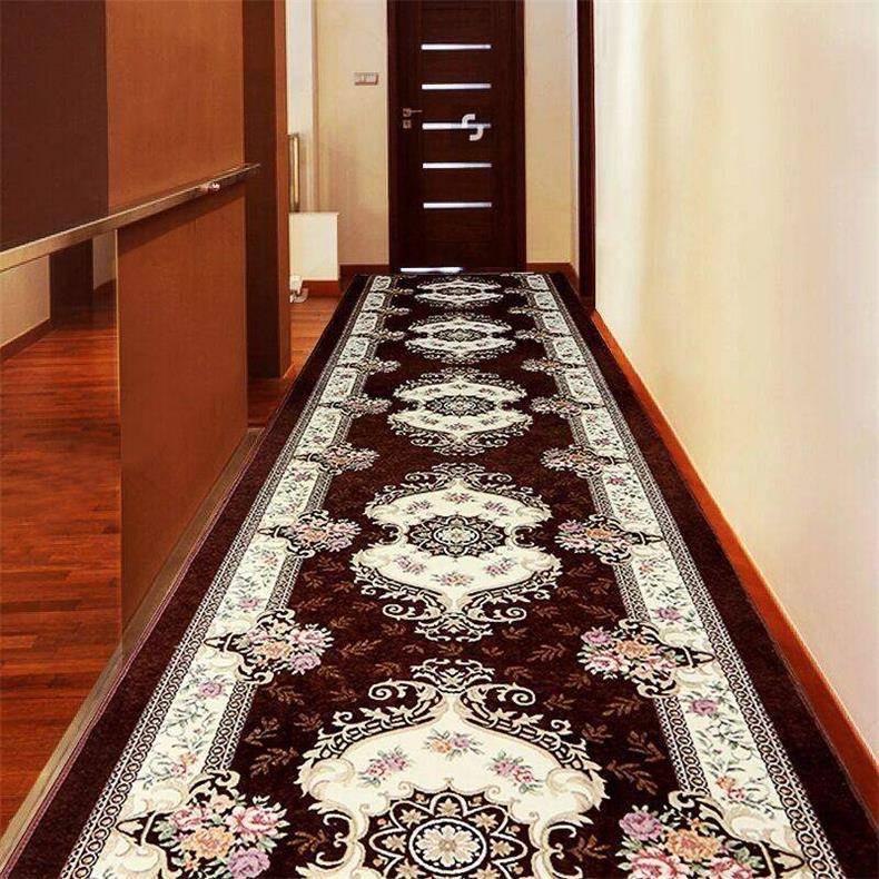 Ковровые дорожки в прихожую (42 фото): модель из рогожки на резиновой основе в интерьере коридора