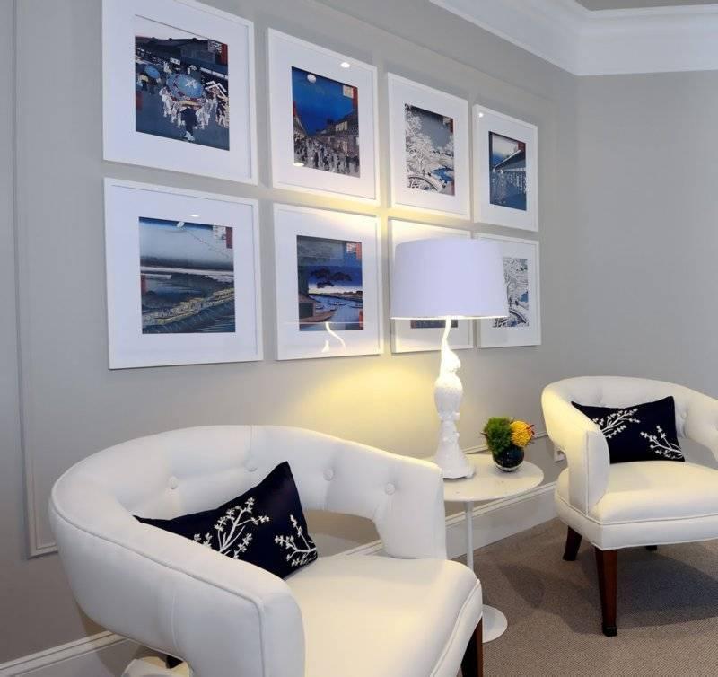 Оформление стены фотографиями: 60+ фото, красивые идеи в рамках, на прищепках и др.