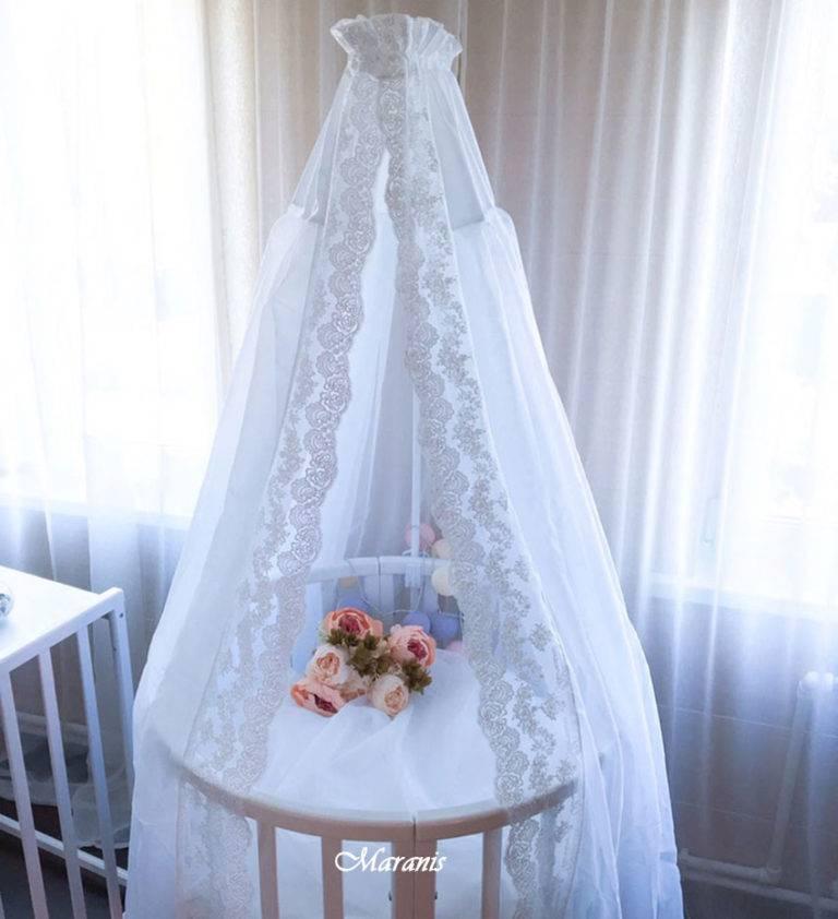 Балдахин (71 фото): что это такое, модели для кроваток новорожденных в спальню и для взрослых, выбор ткани и модели для качелей