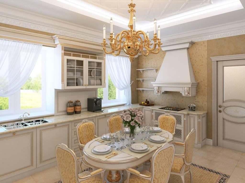 Дизайн кухни в классическом стиле. интерьер кухни в стиле классика