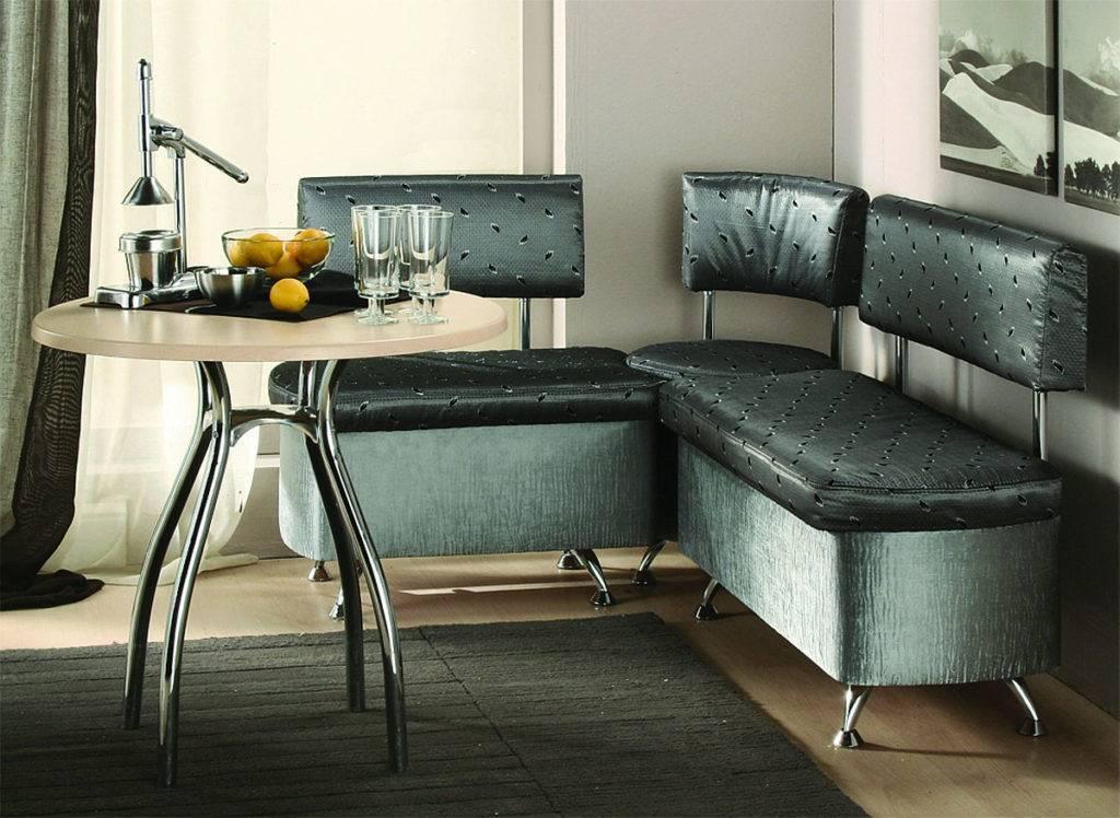Угловые диваны на кухню (83 фото): характеристика кухонных моделей «домино» и «уют», актуальность в интерьере дивана из натуральной кожи