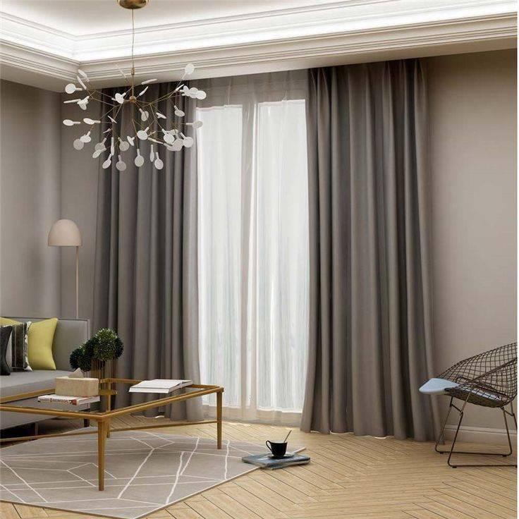 Современный интерьер гостиной с тюлем: дизайнерские идеи