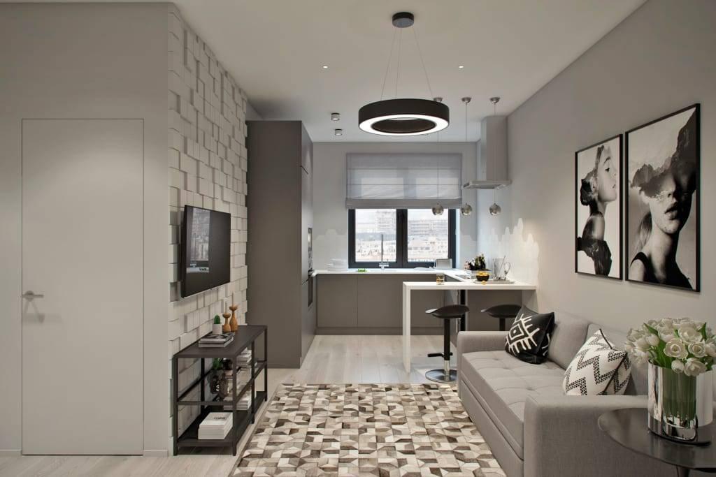 Грамотная планировка квартиры 40 кв. м: зонирование пространства, различные варианты