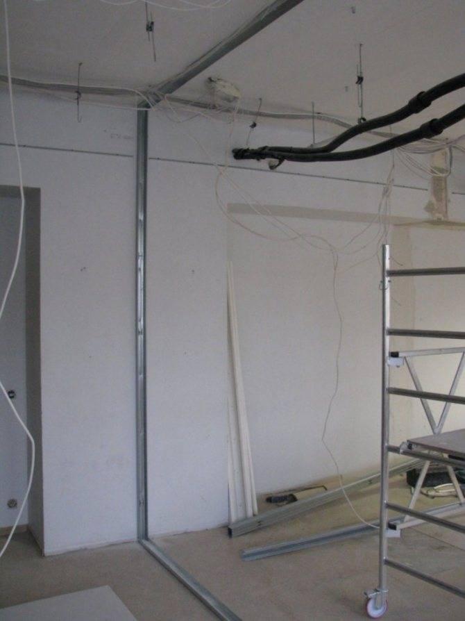 Стены из гипсокартона – обшивка стен своими руками. 110 фото монтажа современных конструкций