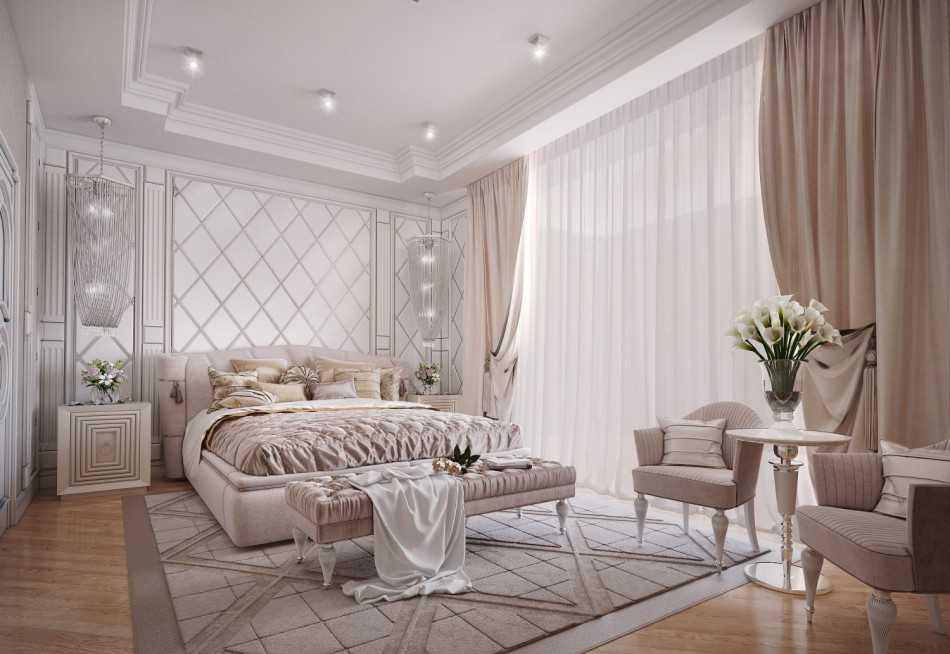 Выразительно и изящно: как оформить спальню в стиле неоклассики (+89 фото)