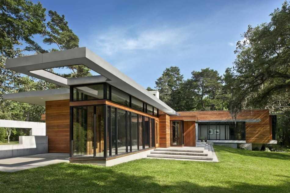 Лучшие проекты домов из клееного бруса с большим остеклением