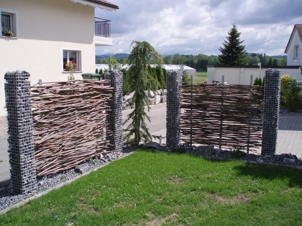 Строим забор из габионов своими руками